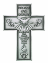 5 Inch Antique Pewter 7 Gifts Holy Spirit Cross