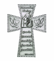 5 Inch Antique Pewter Communion Girl Cross