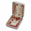 5mm Red Crystal Rosary Beads with Silver Plated Crucifix and Dove Center