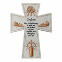 "6"" Resin Godson's Baptism Wall Cross"
