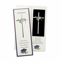 """7"""" Graduation Silver Plated Cross with Fine Pewter Casting"""