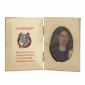 """8"""" x 5"""" Metal Photo Frame for Granddaughter's Confirmation"""