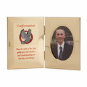 "8"" x 5"" Metal Photo Frame for Boy Confirmation"