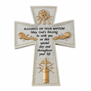 Baptism Stone Resin Wall Crosses and Photo Frames