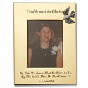 """""""Confirmed In Christ"""" Metal Photo Frame Holds 4"""" x 6"""" Photo"""