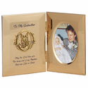 "8"" x 5"" Godmother Hinged Metal Baptism Photo Frame With Guardian Angel"