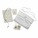 Girls Communion Set with Satin Embroidered Handbag (Option to Personalize Rosary)