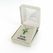 """Ladies Sterling Silver October Birthstone  Cross on 18"""" chain"""