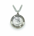 Nickel Silver 3/4 inch Round St. Christopher Medal