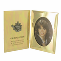 """Personalized 8"""" x 5 1/2"""" Gold Plated Metal Photo Frame For Graduation"""