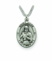 Saint Jude 1 inch Patron of  Hopeless Causes Nickel Silver Engraved Medal on 24 inch Chain