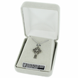 """Sterling Silver Celtic Knot Cross Necklace on 24"""" Chain"""