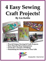 """Download """"4 Easy Sewing Craft Projects"""" By Liz Kettle"""