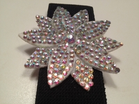 AB CRYSTAL FLOWER BUCKLES