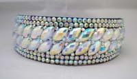 BEAUTIFUL AB OVAL CRYSTALS SURROUNDED WITH AB RHINESTONE HEADBAND CROWN