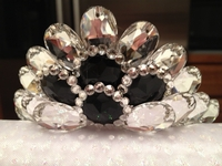 CLEAR AND BLACK SWAROVSKI CROWN