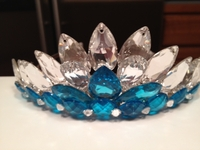 CLEAR SWAROVSKI AND TURQUOISE CROWN
