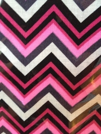 PINK, WHITE AND BLACK CHEVRON PATTERN