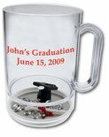 16 oz. Plastic Graduation Theme Mug