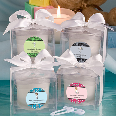 1st Communion Candle Favors