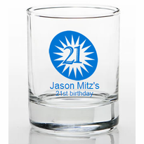 21st Birthday Party Favors Shot Glass