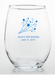 30th Birthday Party Favors Stemless Wine Glass