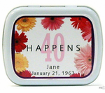 40th Birthday Party Mint Tin Favors