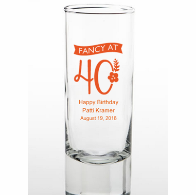 40th Favors Personalized Shot Glasses