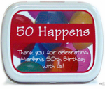 50 Happens - Personalized Birthday Mint Tin Favors