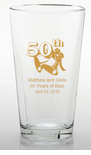 50th Anniversary Party Pint Glasses