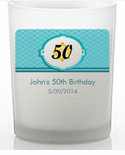 50th Birthday Favors Custom Candle