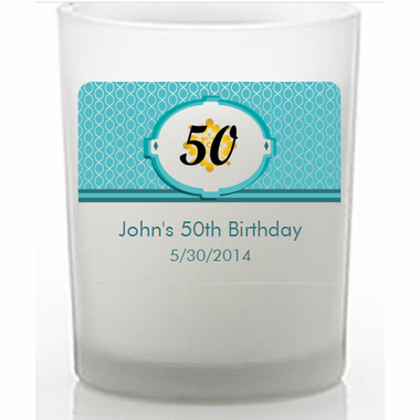 Birthday Favors Custom Candle