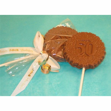 50th Birthday Party Favors Chocolate Pop