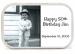 50th Birthday Party Favors Mint Tins