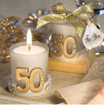 50th Rhinestone Studded Candle Holder