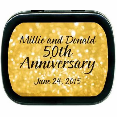 50th Wedding Anniversary Favors Golden Mint Tins