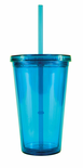 Acrylic Tumblers Double Wall with Lid