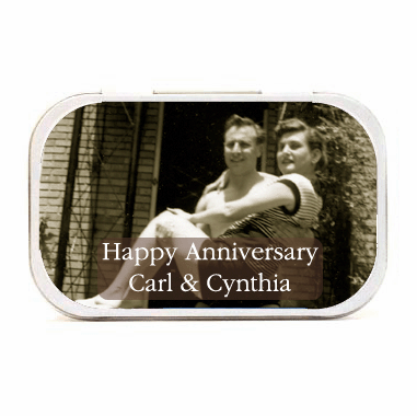 Anniversary Party Favors Photo Mint Tins