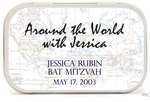 Around the World Party Favor Mint Tins