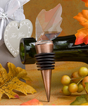 Autumn Wedding Leaf Bottle Stopper