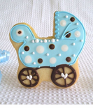 Baby Carriage Cookie