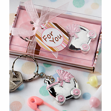 Baby Carriage Favors Key Ring