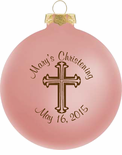 Baby Girl Christening Favors Glass Ornament Sale