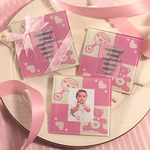 Baby Girl Glass Photo Coasters - Set of 2