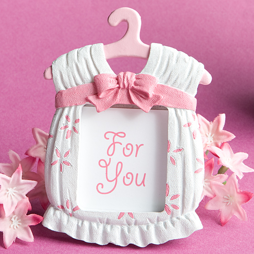 baby girl placecard frame favors
