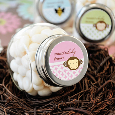 Baby Shower Monkey Favors Jars