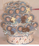 Baptism Centerpiece - Photo Cookies