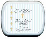 Baptism Favors for Boys Candy Tins