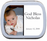 Baptism Favors Photo Mint Tins