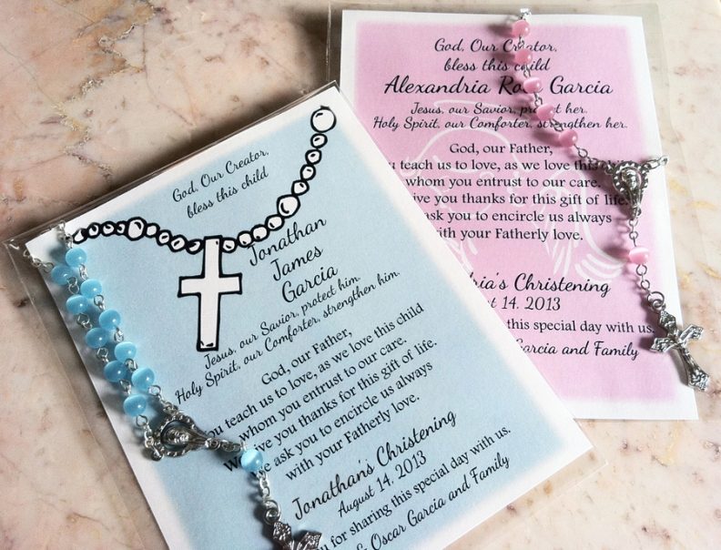 Baptism Remembrance Cards